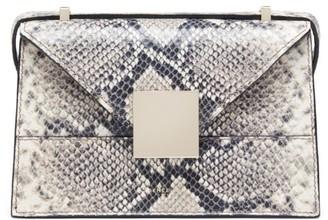 DeMellier Mini Copenhagen Snakeskin-Embossed Leather Crossbody Bag