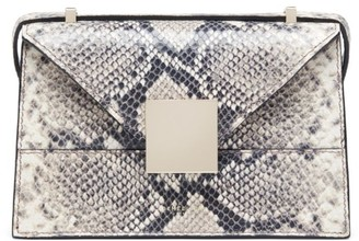 DeMellier Mini Copenhagen Snakeskin-Embossed Leather Crossbody Bag