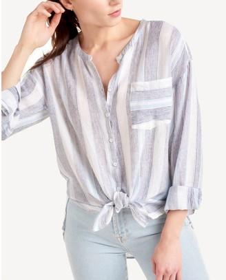 Splendid Button-Front Shirt - Sea Stripe