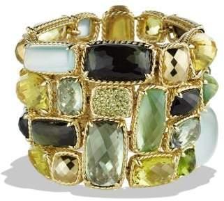 David Yurman Châtelaine Five-Row Bracelet With Lemon Citrine, Green