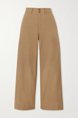 Apiece Apart Merida Cotton Straight-leg Pants - Camel