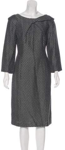 Giorgio Armani Long Sleeve Midi Dress
