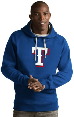 Antigua Men's Texas Rangers Victory Logo Hoodie
