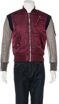 99% Is Leather-Trimmed Bomber Jacket