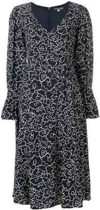ALEXACHUNG Clouds Print Longsleeved Dress