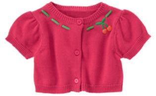Crazy 8 Cherry Embroidered Cardigan