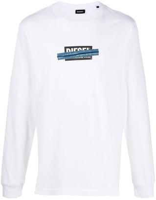 Diesel crossed logo T-shirt