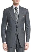 Tom Ford Windsor Base Micro-Pinstripe Suit, Gray