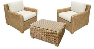 Eddie Bauer Traverse 3 Piece Deep Seating Group with Sunbrella Cushions