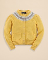 Ralph Lauren Girls' Fair Isle Yoke Cardigan Sweater - Sizes 2-6X