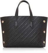Givenchy Bond Mini Logo-Embossed Leather Shopper Tote