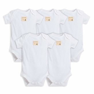 Burt's Bees Baby Baby Bodysuits 5-Pack Short & Long One-Pieces 100% Organic Cotton
