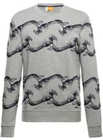 Hugo Boss Weatherbee-H Embroidered Cotton Sweatshirt M Grey