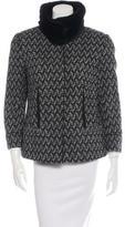 Dolce & Gabbana Fur Trim Wool Coat w/ Tags