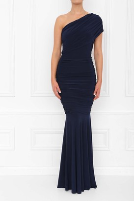 Honor Gold Alice Navy Fishtail Maxi