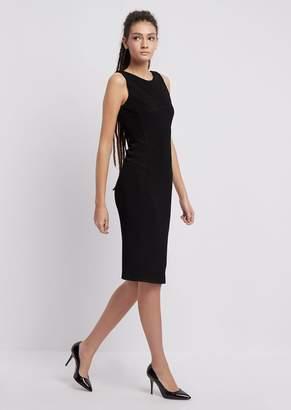 Emporio Armani Sheath Dress In Textured Jersey