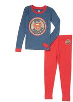 Intimo Superman Vintage Logo Pajama Set - Toddler & Boys