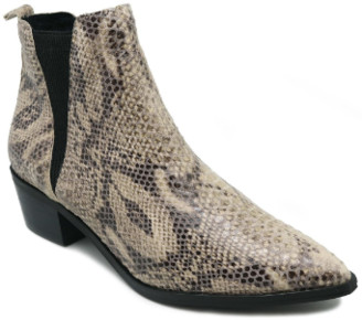 Pieces Leather Animal Print Cowboy Boots - leather | 41