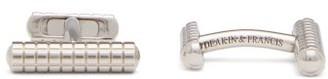 Deakin & Francis Knurl White-rhodium Cufflinks - Mens - Silver