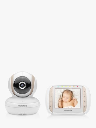 Motorola MBP35XLC Digital Audio and Video Baby Monitor, White