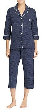 Ralph Lauren Ralph Bingham Knits Cotton Jersey Cropped Pj Set