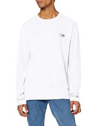 Tommy Jeans Men's TJM Longsleeve Chest Logo TEE Long Sleeve Top,(Size:M)