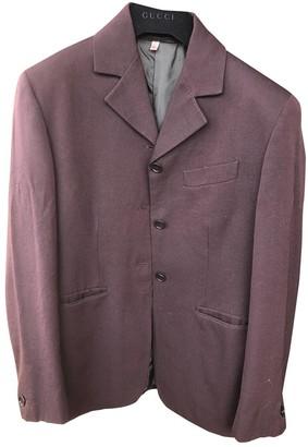 Romeo Gigli Burgundy Wool Jacket for Women