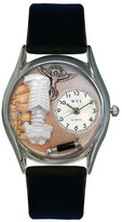 Whimsical Watches Women's S0610009 Chiropractor Black Leather Watch