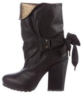 Vanessa Bruno Leather Ankle Boots