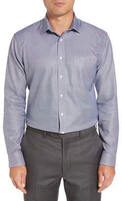 Nordstrom Trim Fit Microgrid Dress Shirt