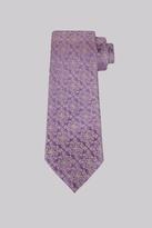 Moss Bros Purple & Gold Geo Silk Tie