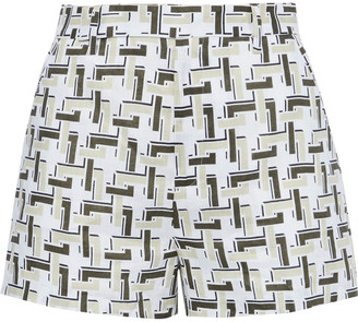 Equipment Jeannine Printed Linen Shorts