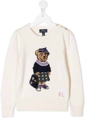 Ralph Lauren Kids Polo Bear knit jumper