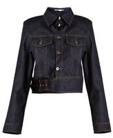 Stella McCartney Angelica point-collar cropped denim jacket