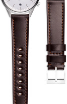 Uniform Wares Women's shell cordovan watch strap in brown with polished steel buckle