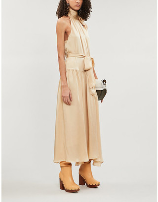 Zimmermann Sleeveless silk-crepe de chine midi dress