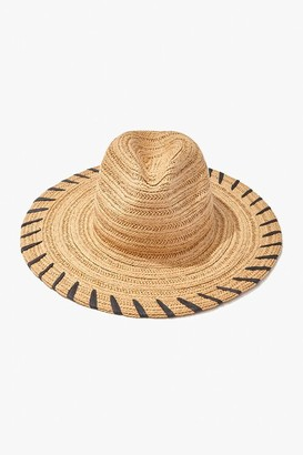 Forever 21 Striped Panama Straw Hat