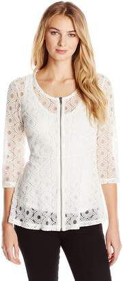 Only Hearts Women's Love is Enough Zip Front Flare Top Lined