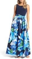 Ellen Tracy Women's Print Gown