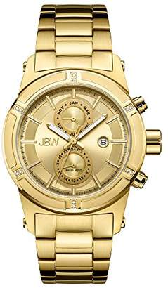 JBW Luxury Men's Strider J6263E 0.12 Karat Diamond Wrist Watch with Stainless Steel Link Bracelet