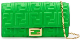 Fendi Baguette continental chain wallet