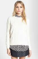 Topshop Cable Knit Boxy Sweater