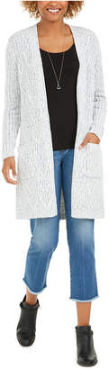 Style&Co. Style & Co Chenille Open Front Long Cardigan