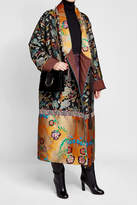 Etro Printed Coat with Wool and Goat Fur