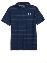 Under Armour Boy's Playoff Stripe Polo