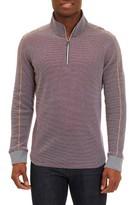 Robert Graham Men's Poole Regular Fit Quarter Zip Pullover