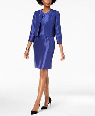 Le Suit Shiny Flyaway Jacket & Dress Suit