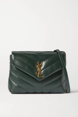 Saint Laurent Loulou Toy Quilted Leather Shoulder Bag - Green