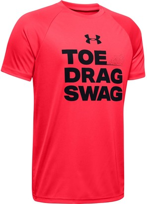 Under Armour Boys' UA Tech Toe Drag Swag Short Sleeve