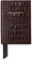 Whistles Shiny Croc Passport Holder